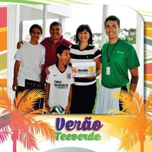 Nossos clientes Alexandre Bobato e Fabiana participando da ação Verão Tecverde