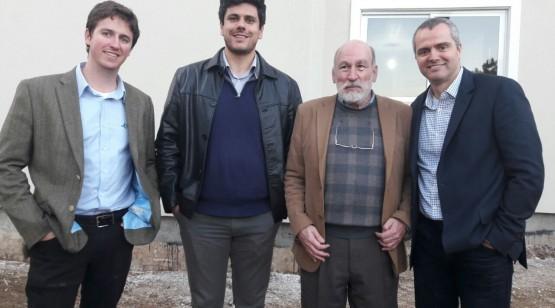 O diretor da Tecverde, Pedro Moreira com Marcello Pompermayer Coordenador de Obras na MRV Engenharia, José Roberto Pereira de Lima, Gestor Executivo da MRV  e Alexandre Alvim, GEF - Global Environment Fund.